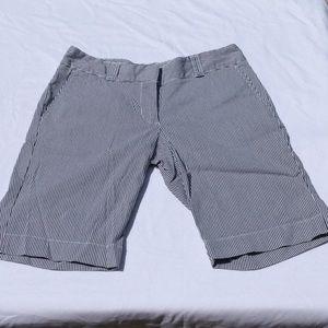 Tommy Hilfiger Navy & White Striped Bermuda Shorts